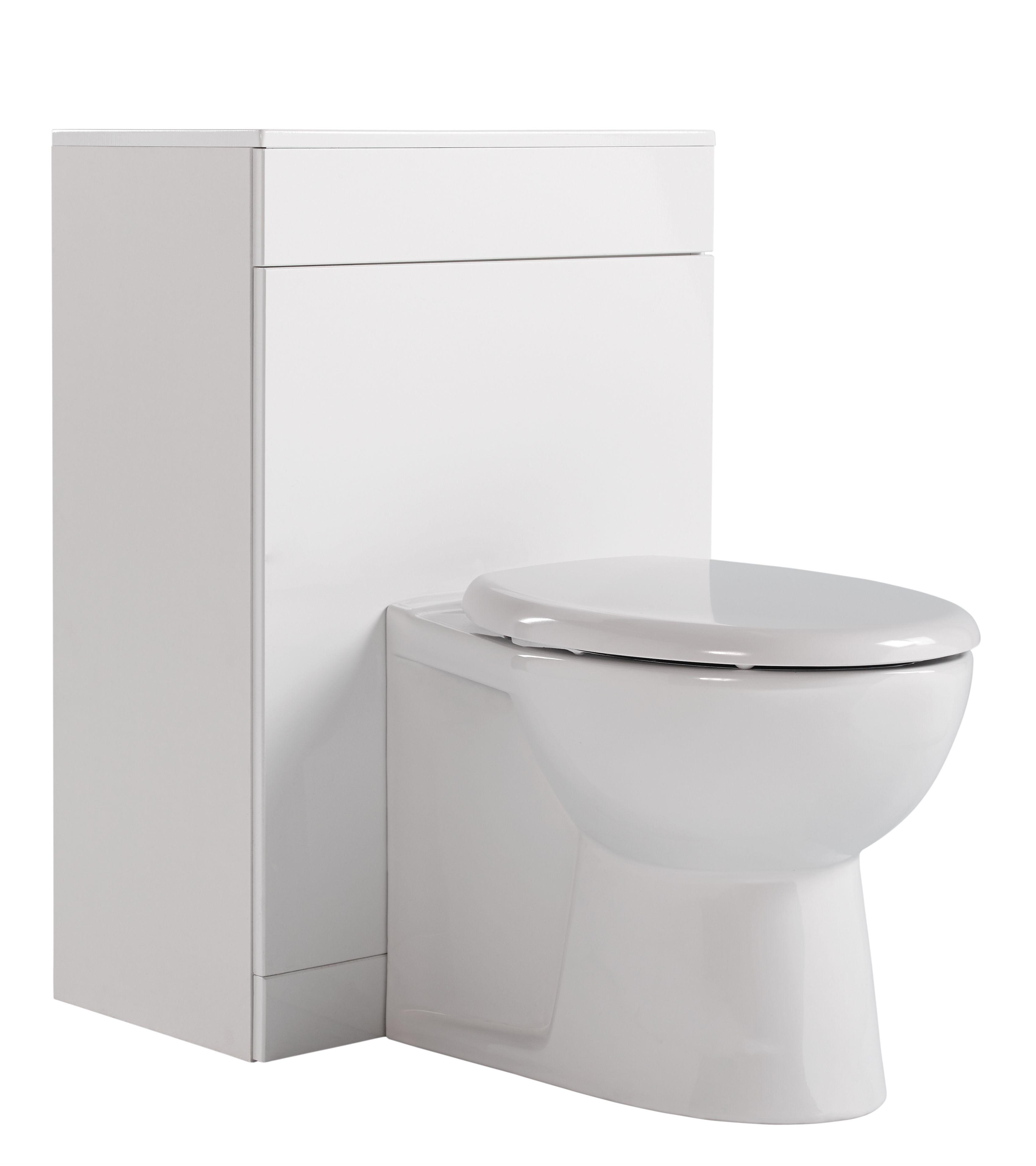Ardenno Gloss White Toilet Unit Wc Set