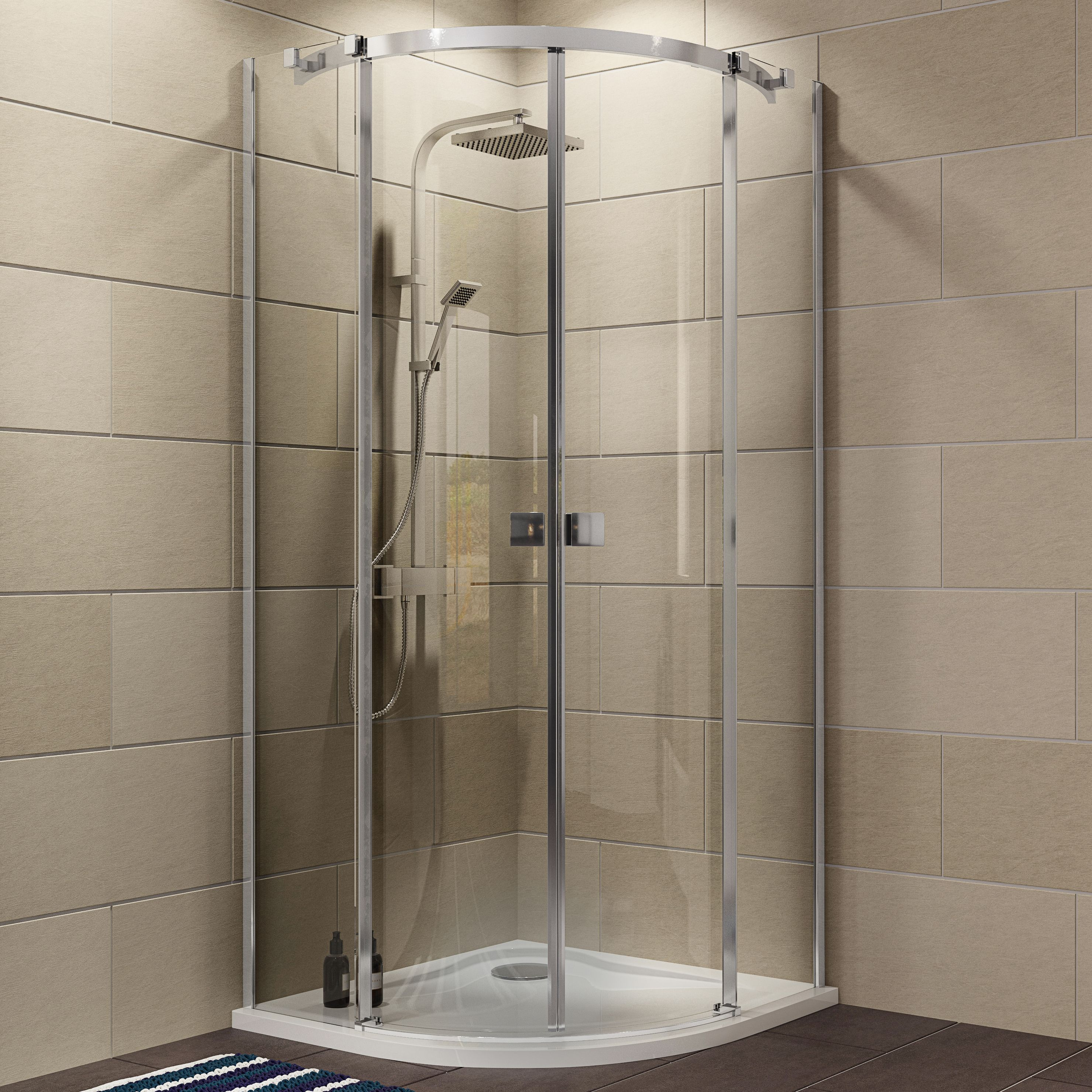 Cooke & Lewis Luxuriant Quadrant Shower Enclosure with Double ...