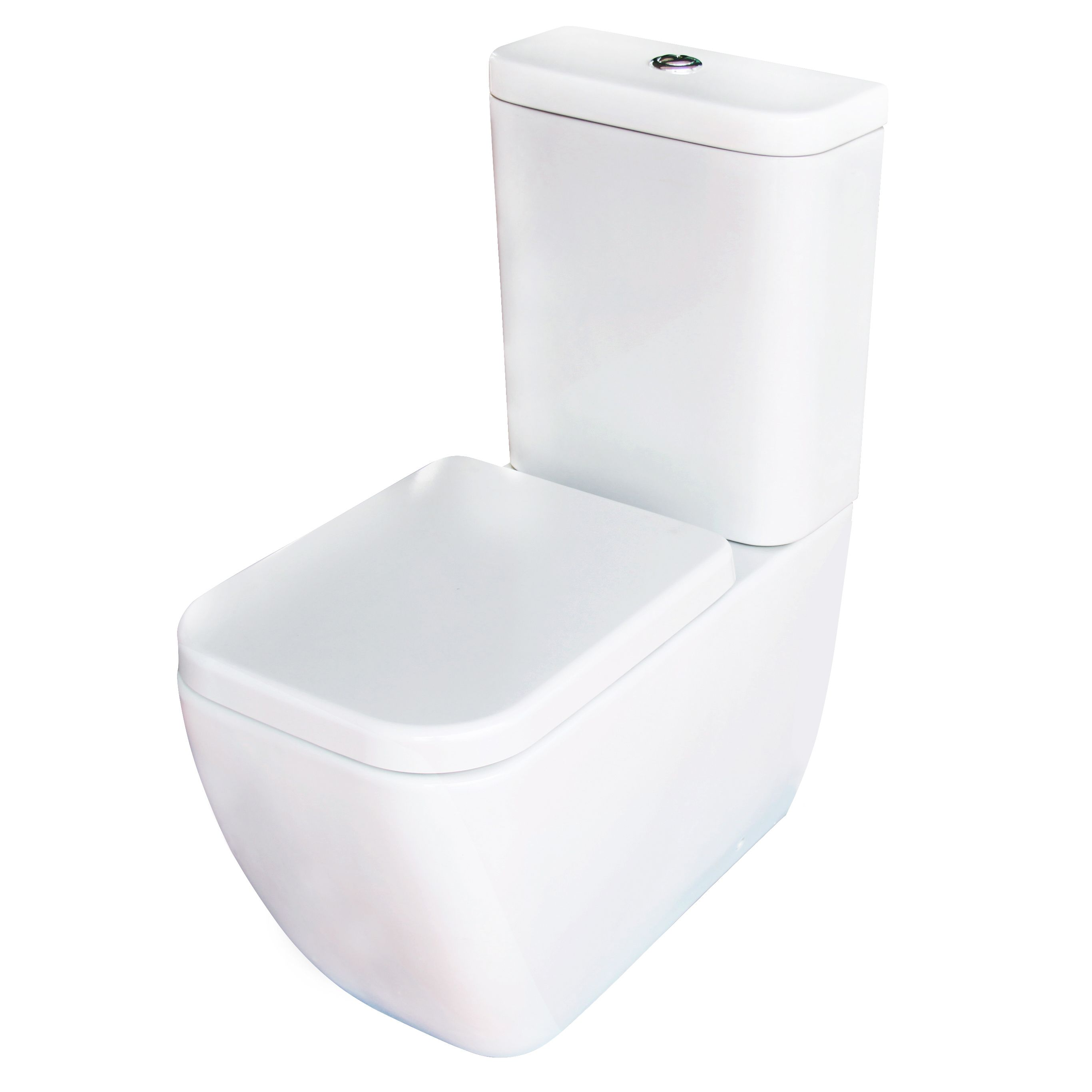 Cooke & Lewis Affini Contemporary Close-Coupled Toilet with Soft ...