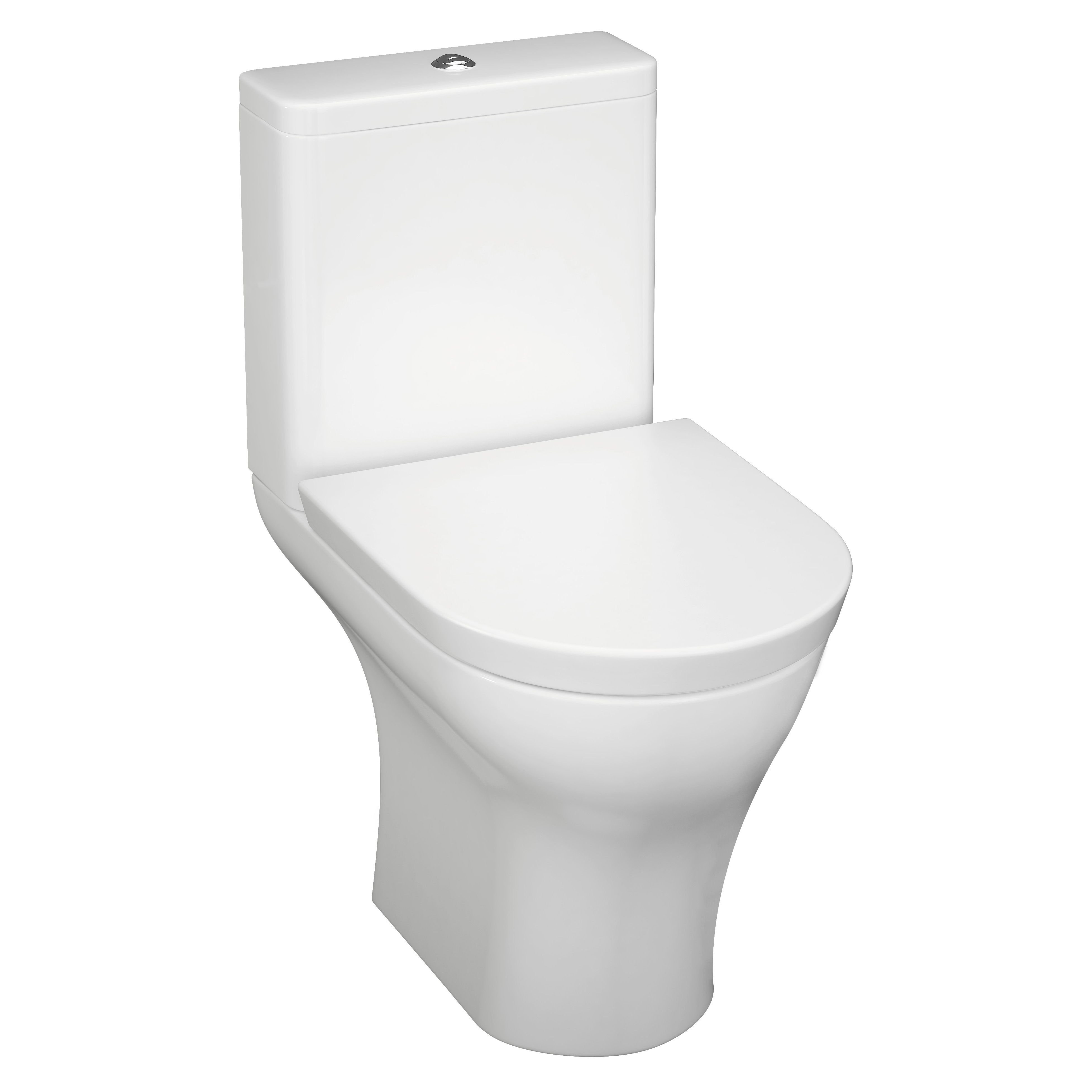 Cooke Lewis Angelica Modern Close Coupled Toilet With Soft Close Seat