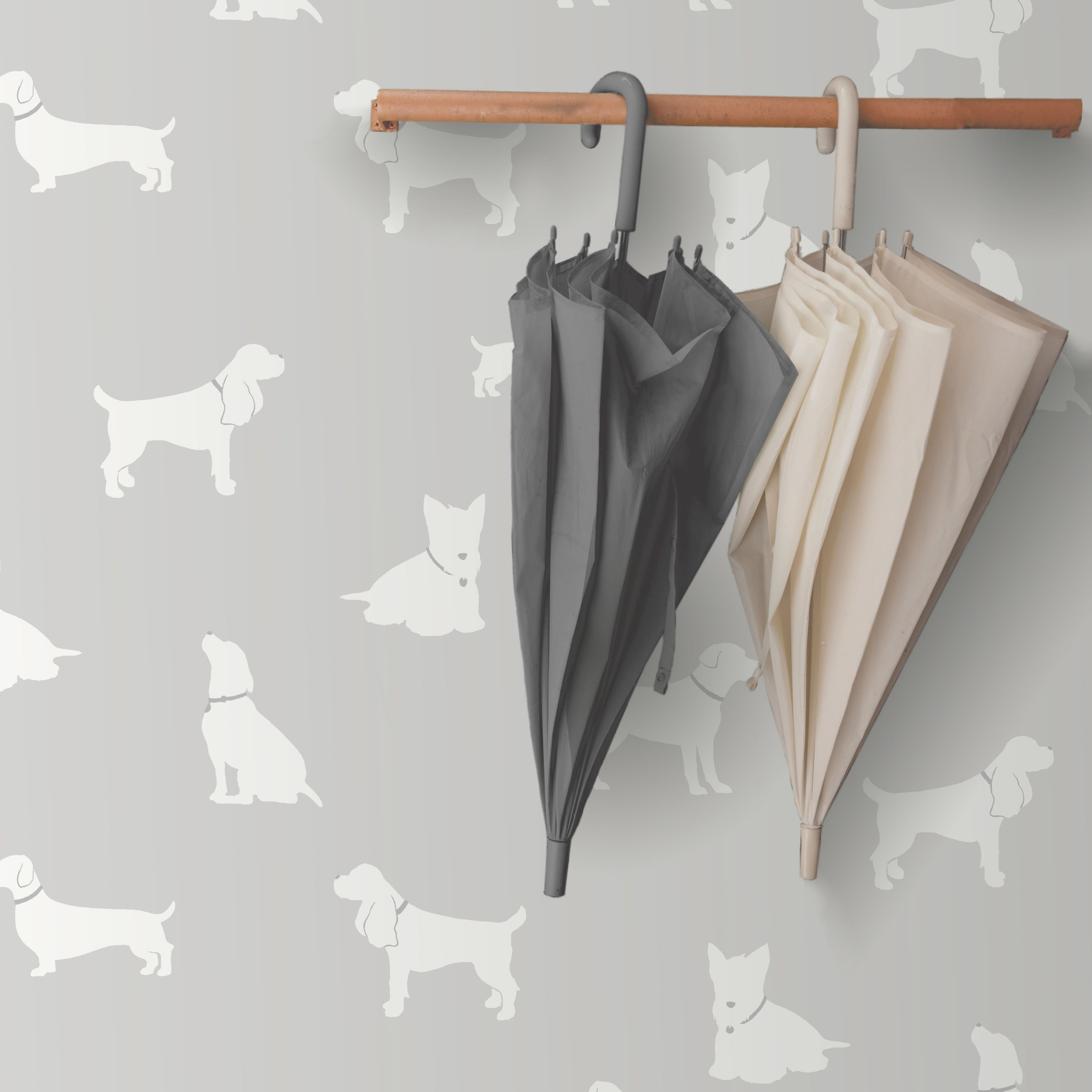 colours pooch grey dogs mica effect