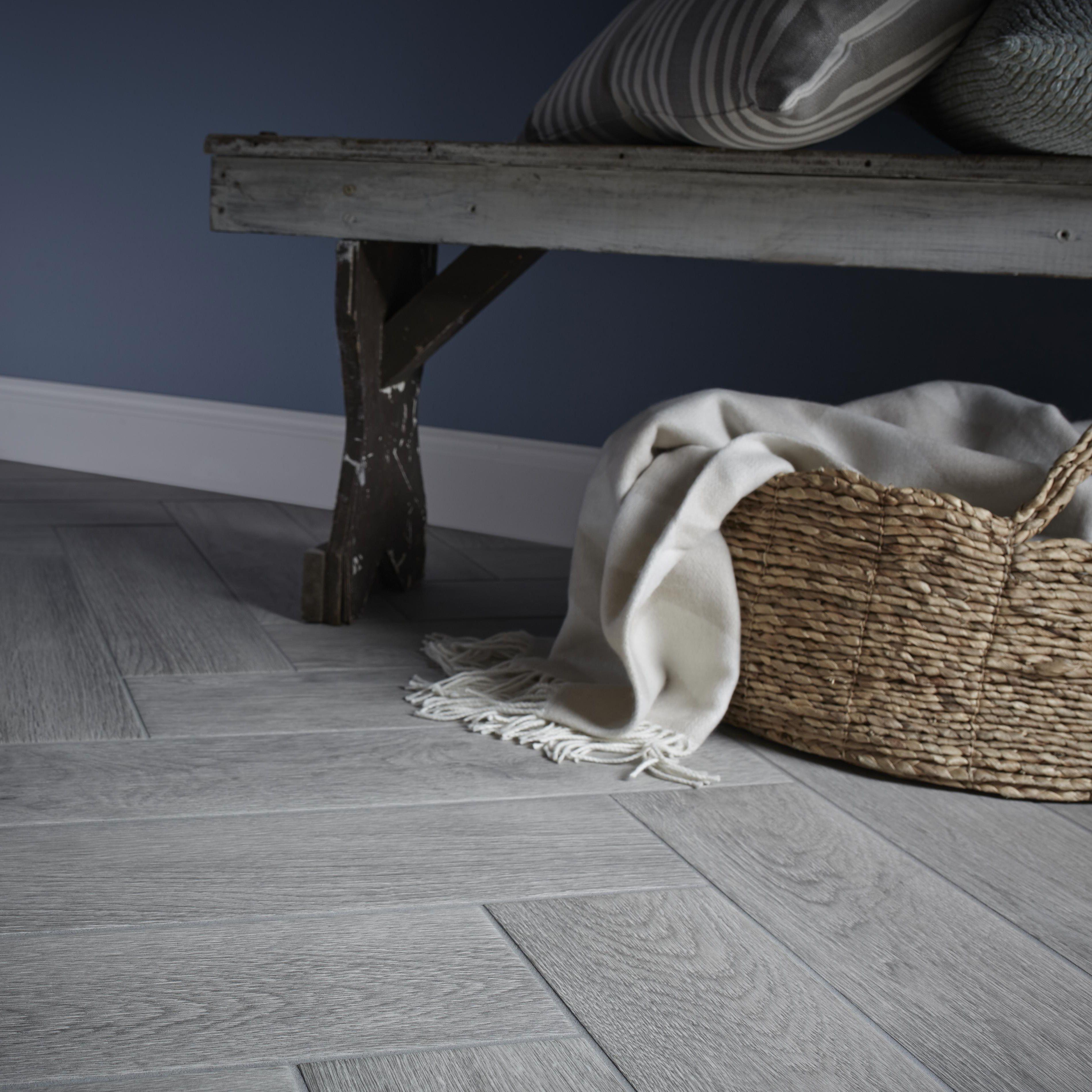 Albero Grey Porcelain Wall Floor Tile Pack Of 11 L 600mm W 150mm