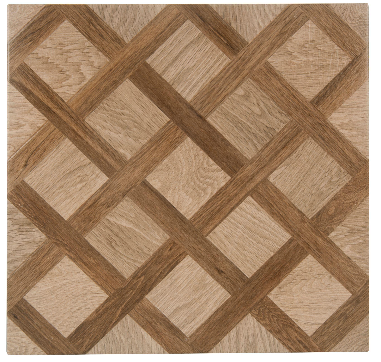 Chalet Oak Effect Porcelain Floor Tile Pack Of 5 L450mm W450mm