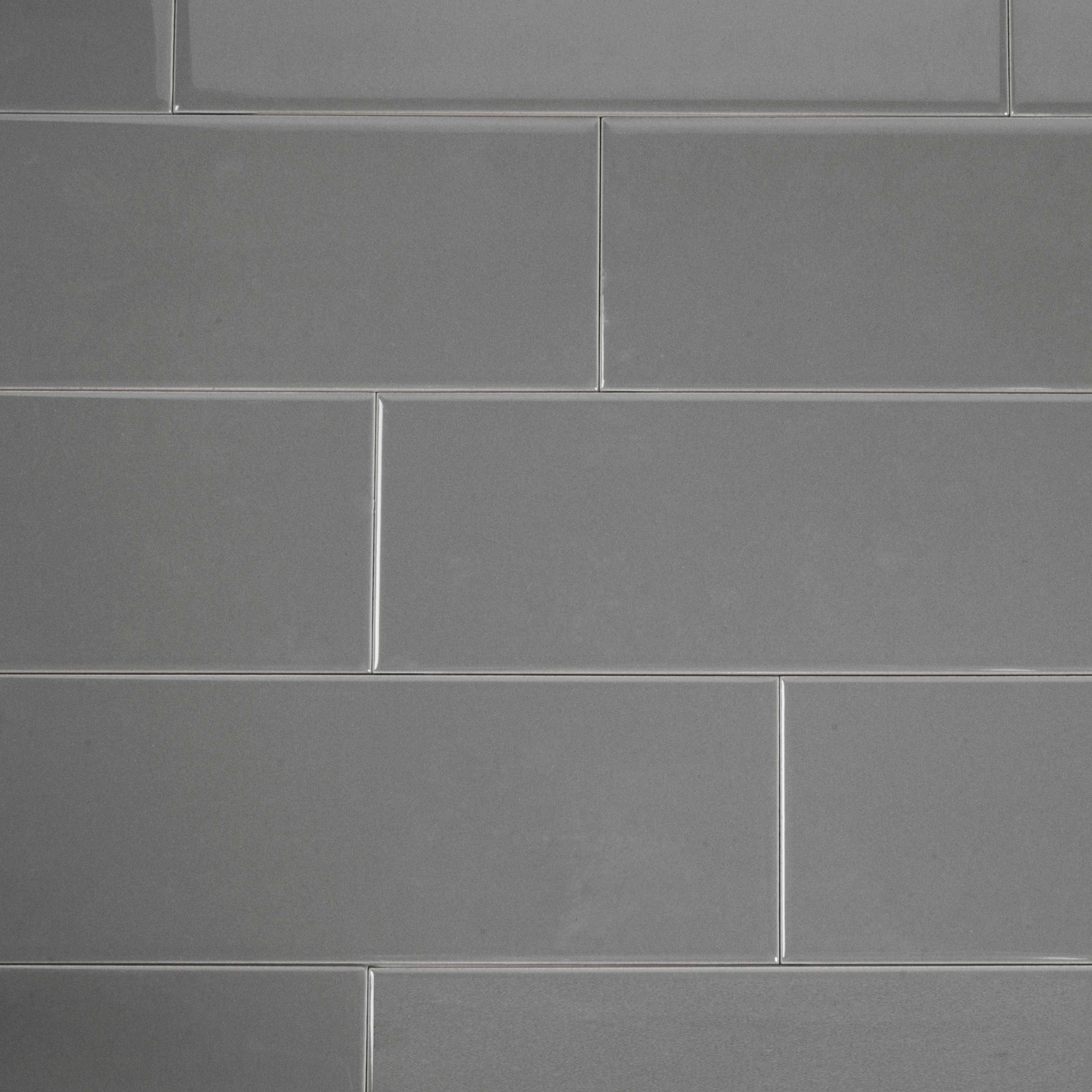Wellington grey ceramic wall tile pack of 33 l300mm w100mm dailygadgetfo Gallery