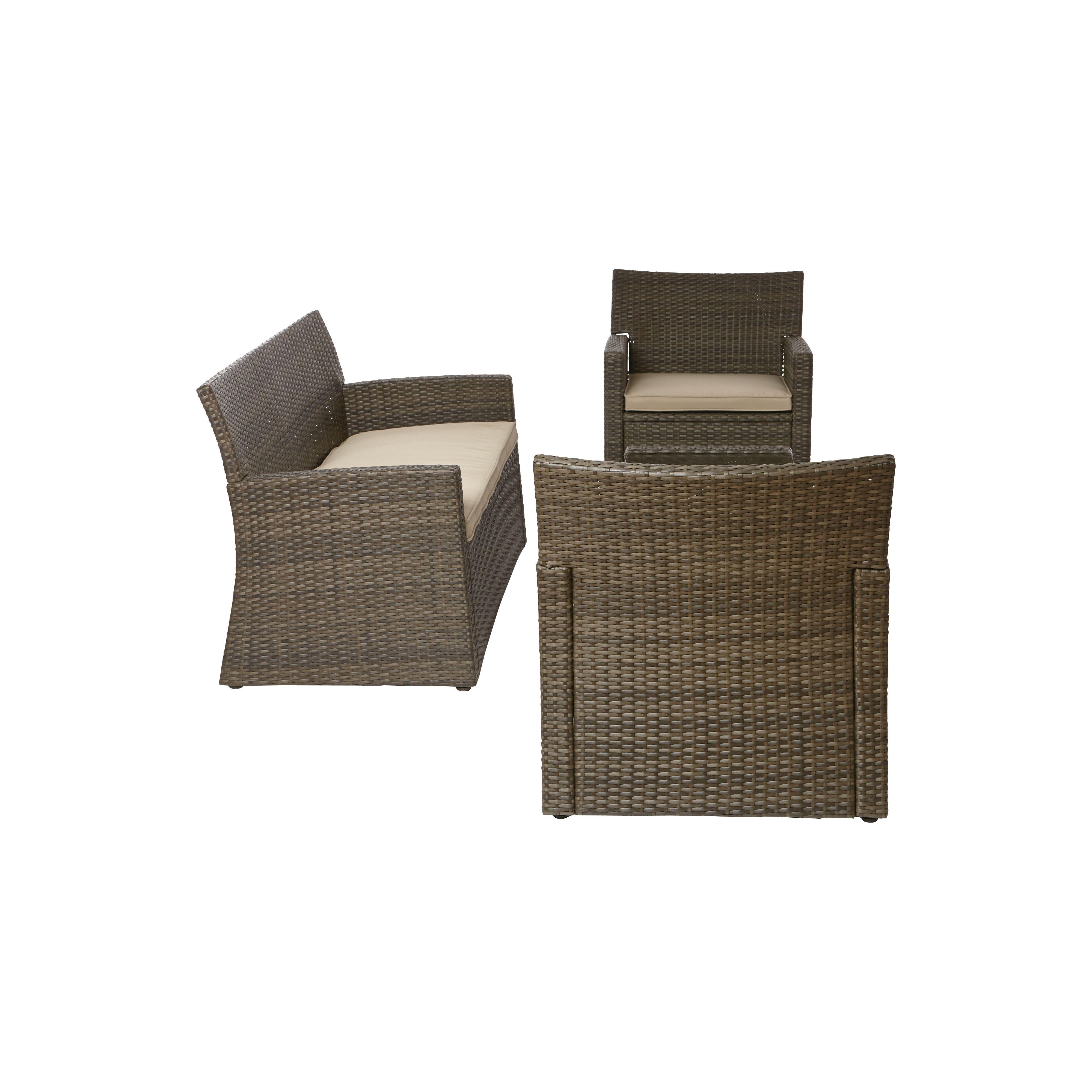 Mali Rattan Effect Garden Sofa Set