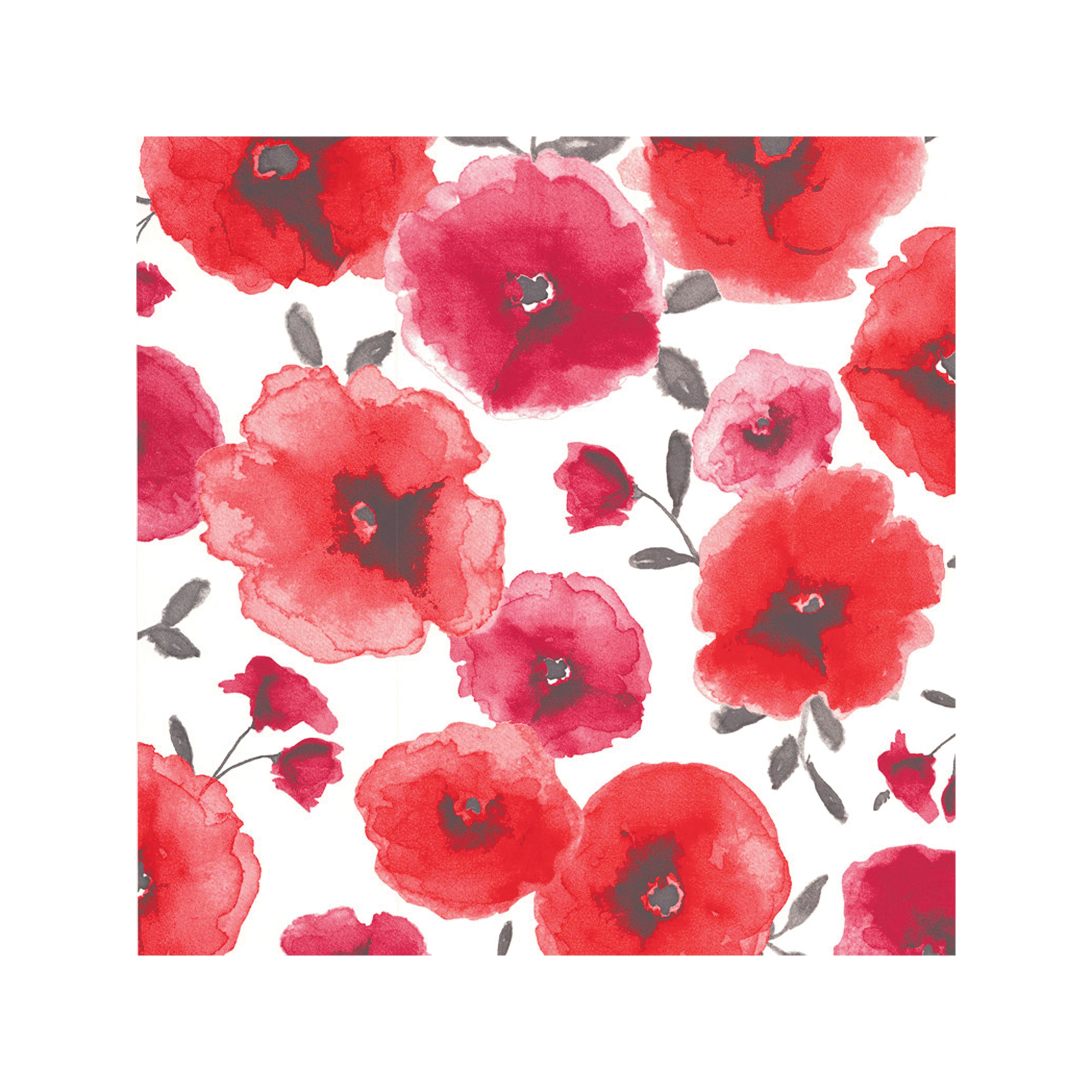 Superfresco Easy Poppies Red Wallpaper