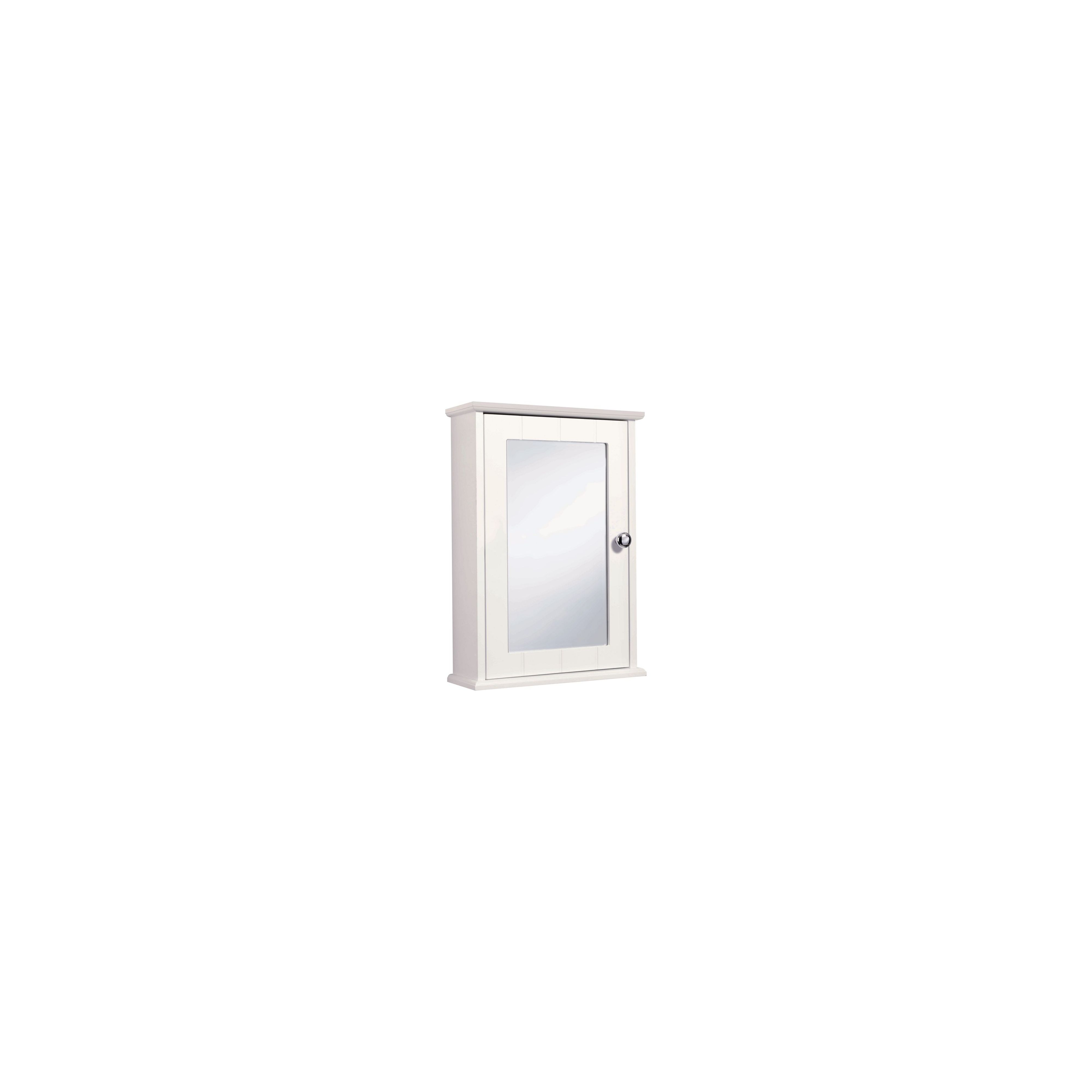 Croydex Virginia Single Mirror Door Bathroom Cabinet - White