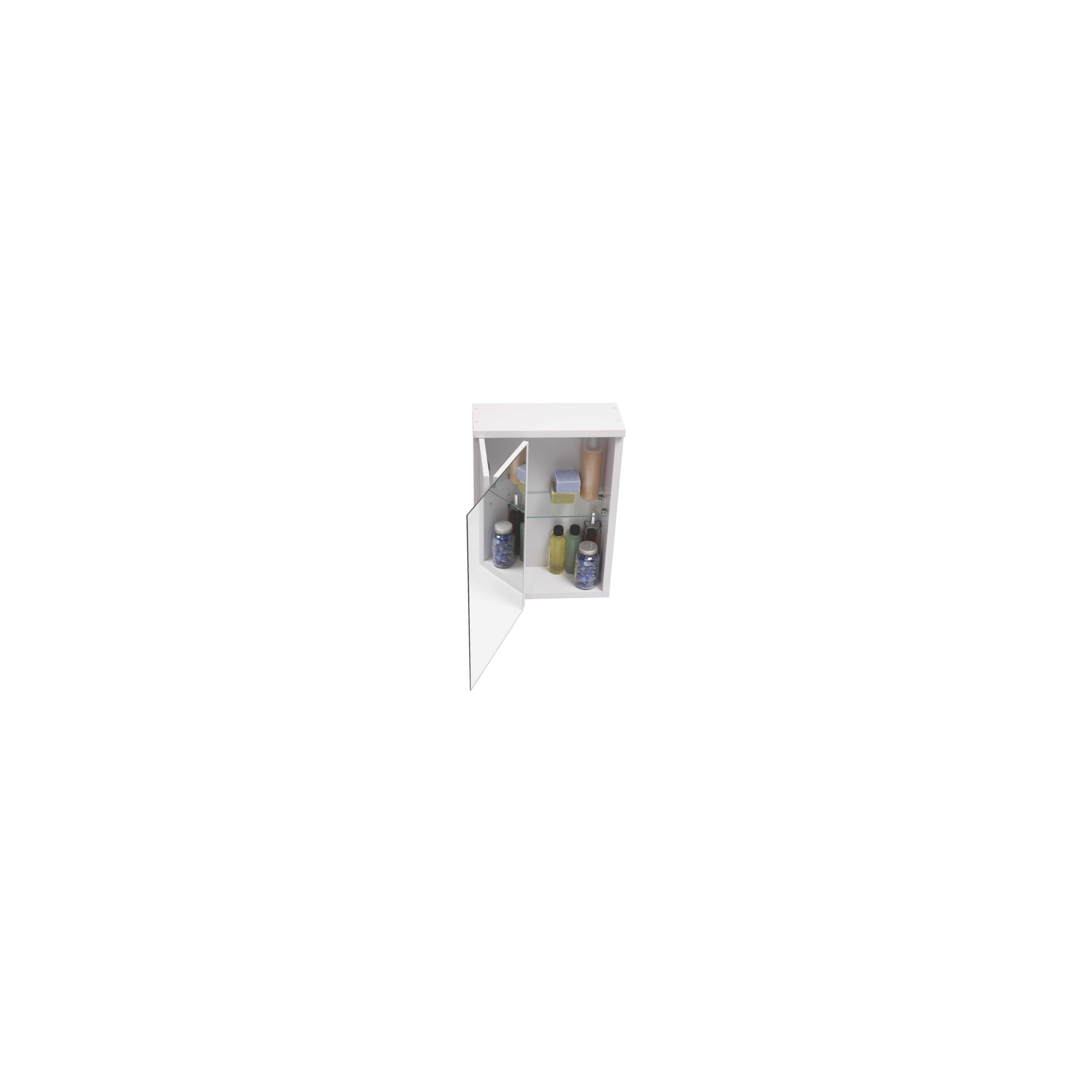 Croydex Montana Single Swivel Mirror Door Bathroom Cabinet - White