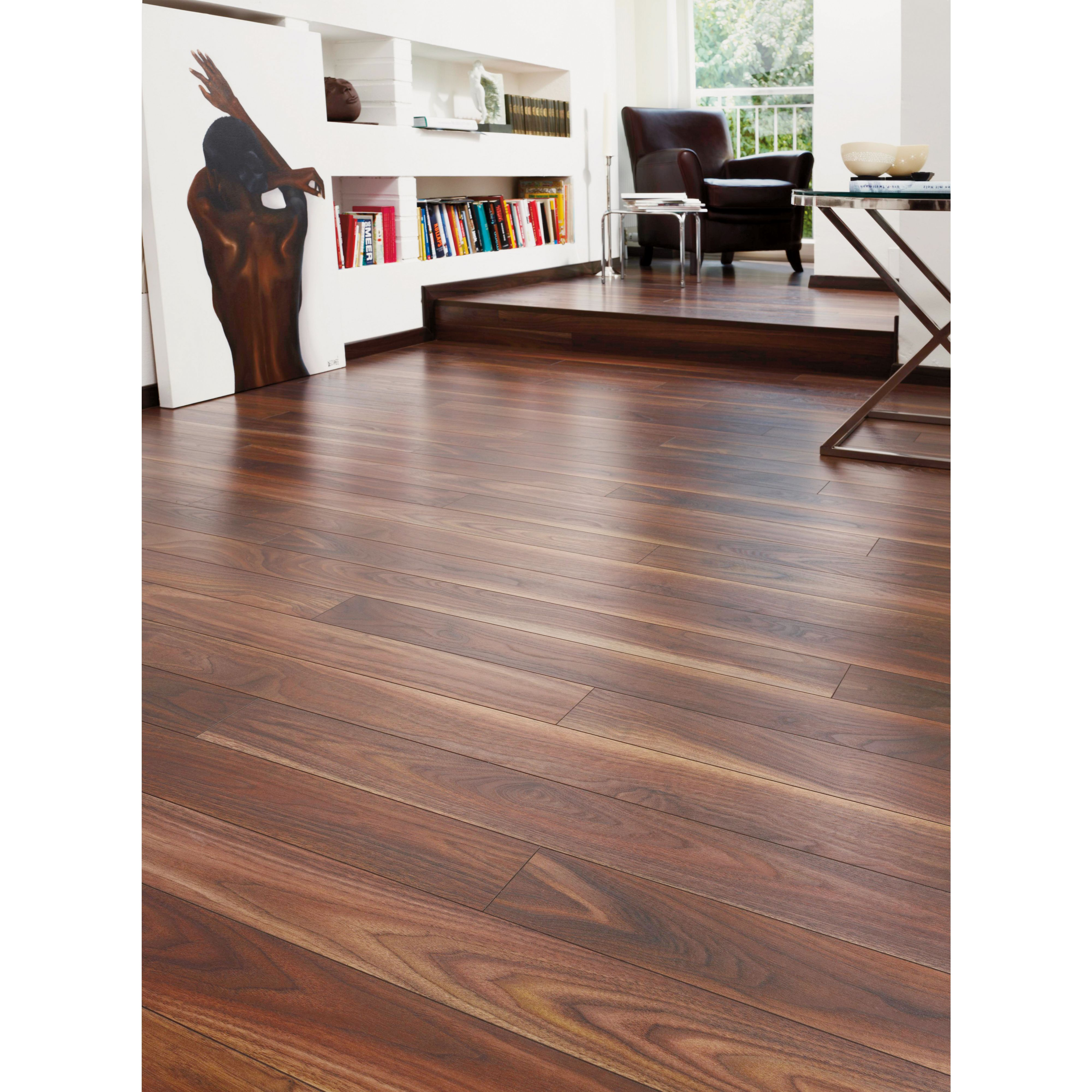 Rich Walnut Laminate Flooring Home Delivery