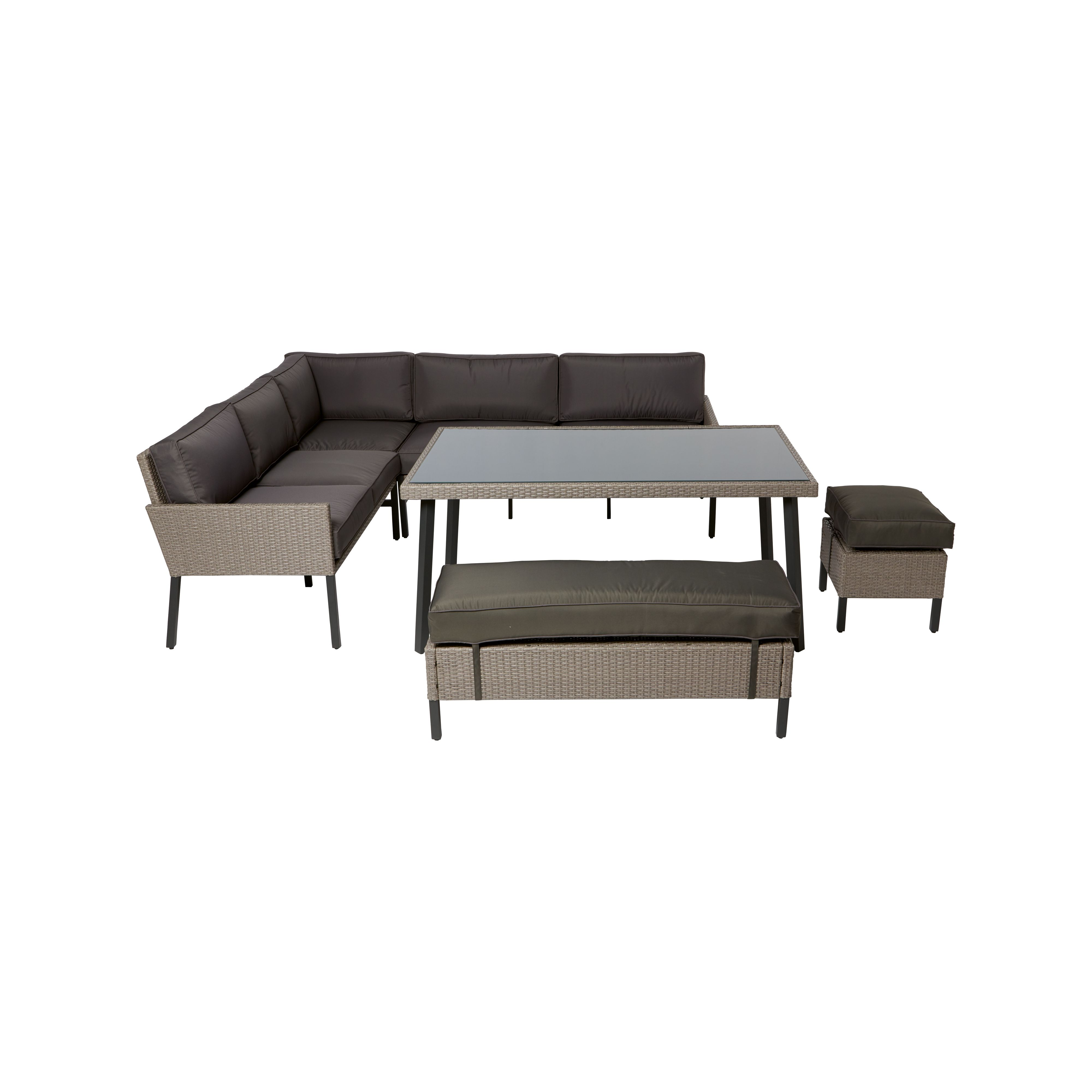Palermo Rattan Effect Corner Sofa Set