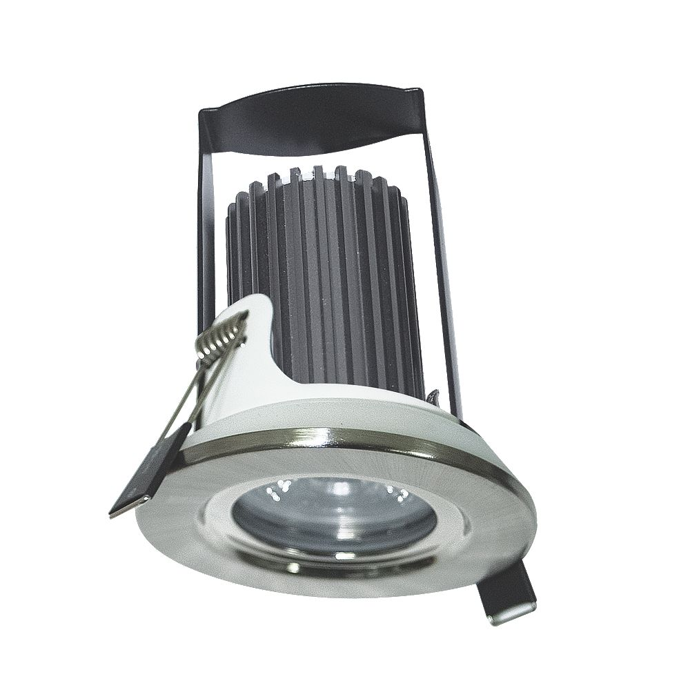 the latest 44752 b7bff Luceco Fire Rated Fixed Integrated LED Downlight IP65 Brushed Steel 5.5W