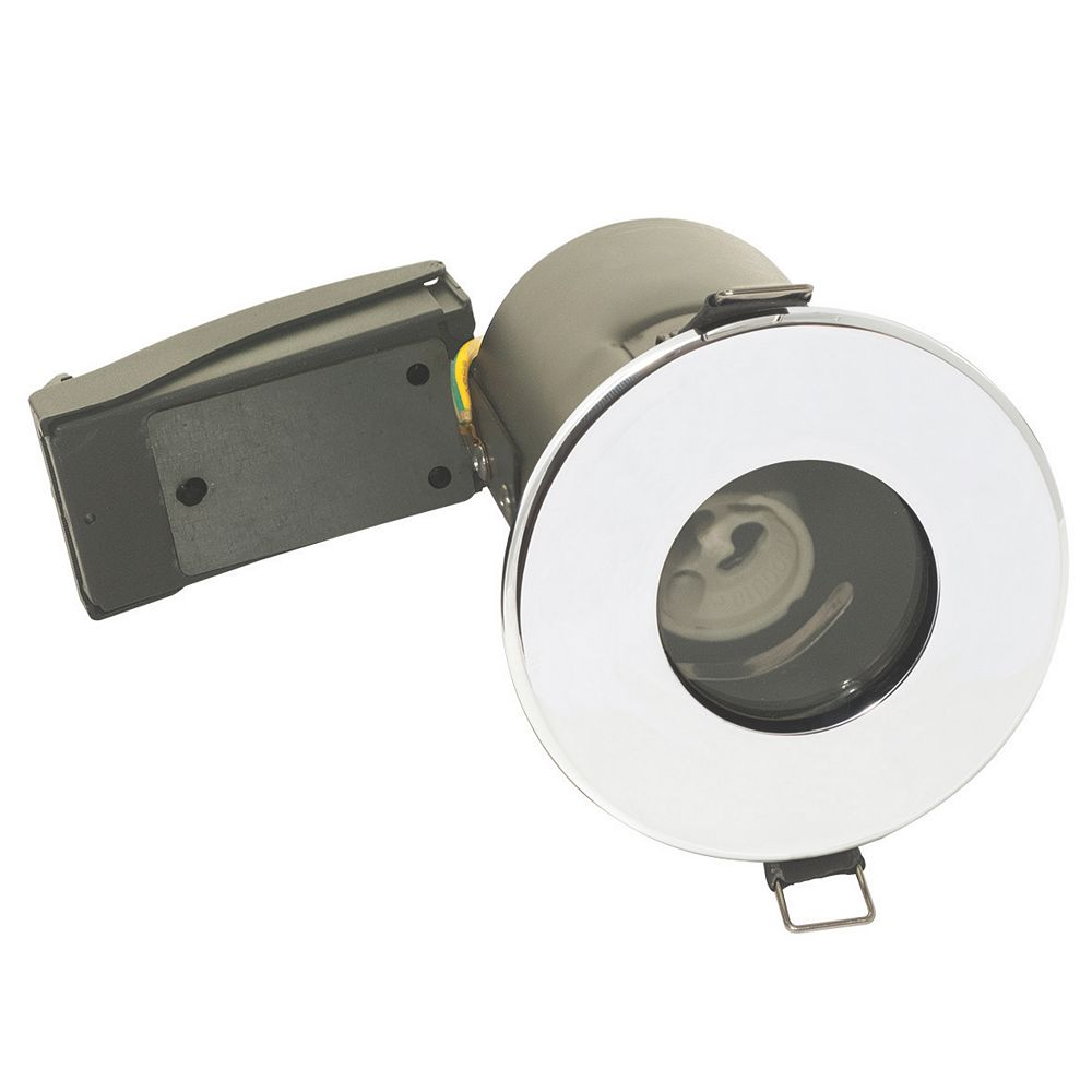 the latest 334de 8263a LAP Fixed Round Fire Rated Downlight Polished Chrome 220-240V