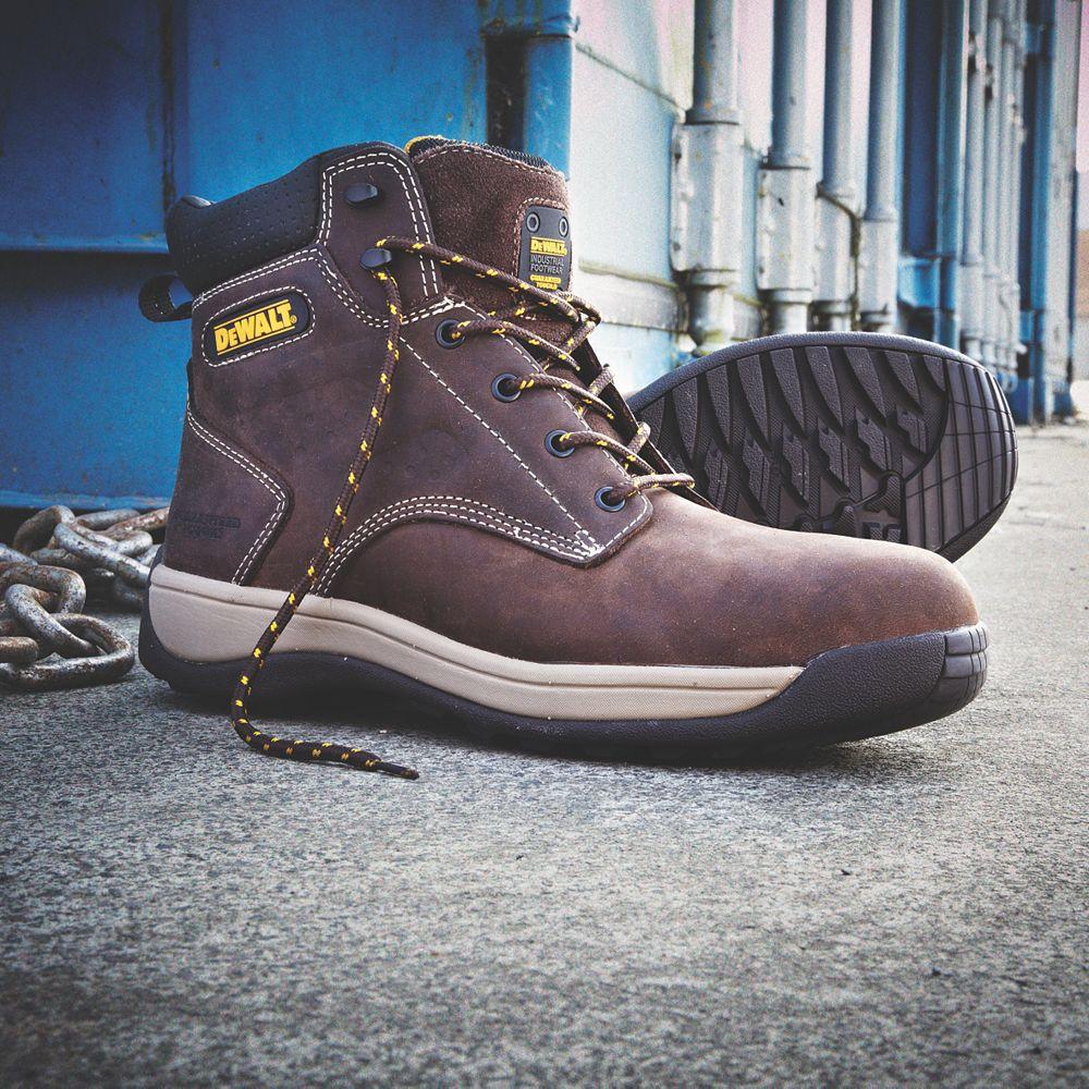 b13372062b4 DeWalt Bolster Safety Boots Brown Size 8