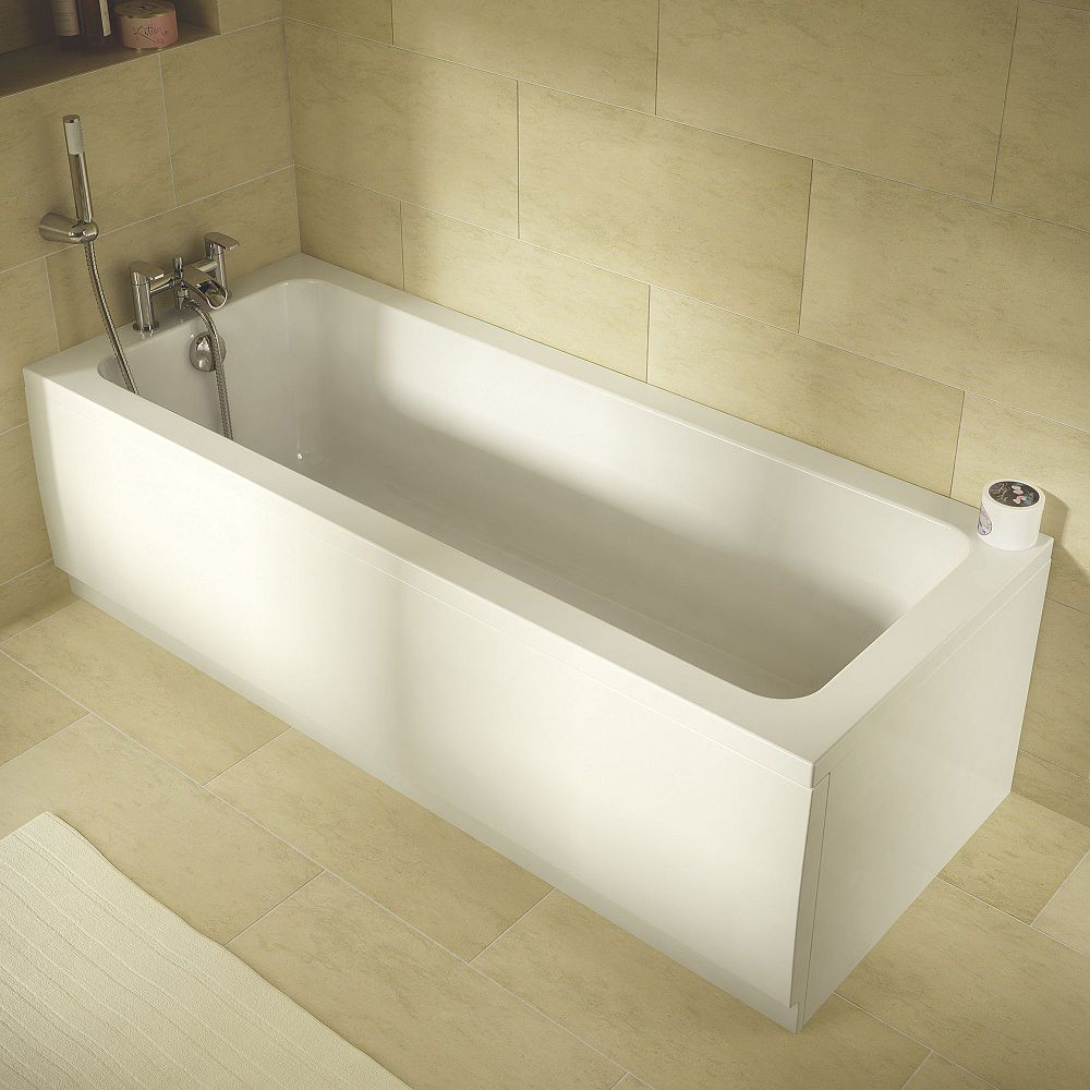 Wickes Lesina Reinforced Single Ended Bath 1700mm