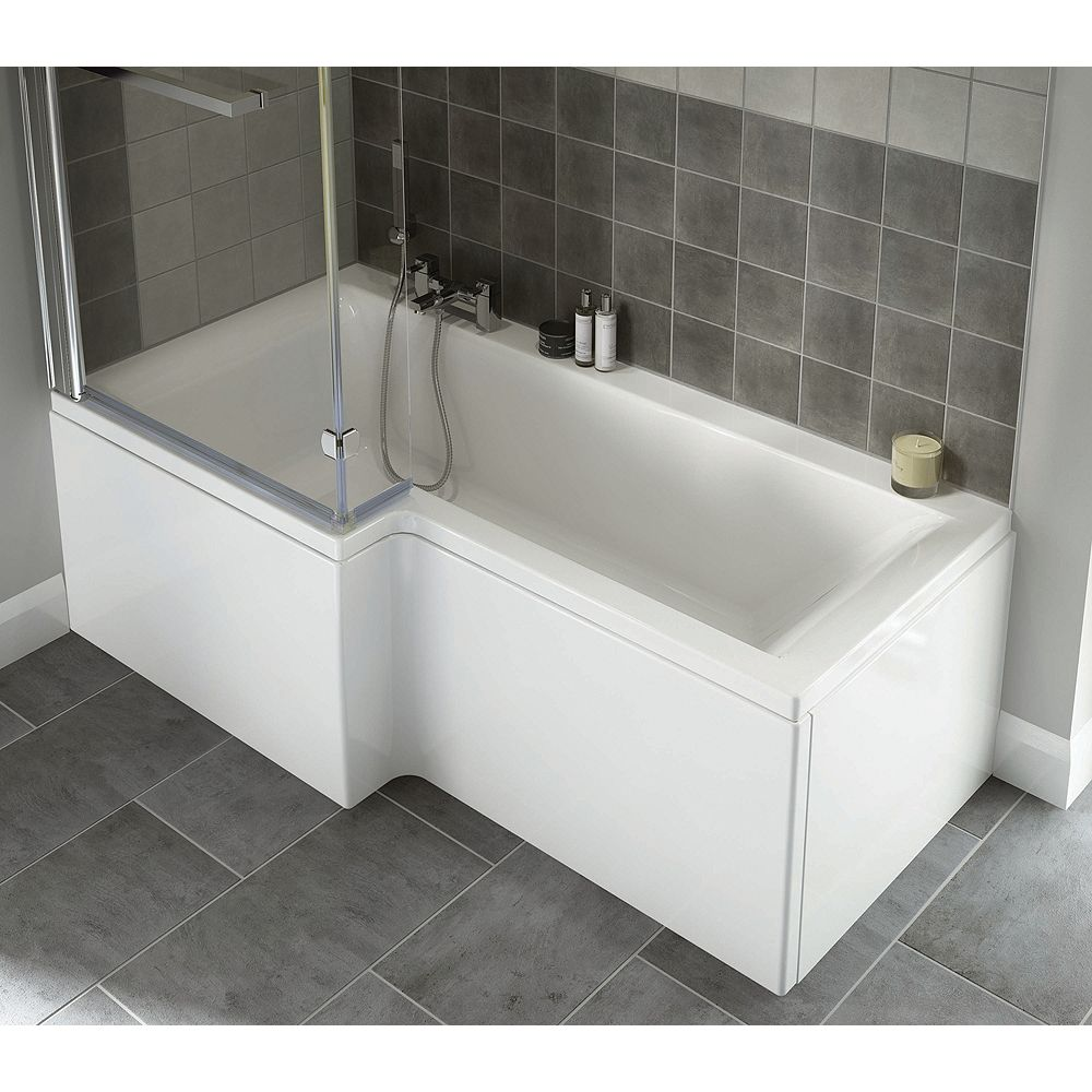 Wickes Asuni Square Shower Bath Front Panel White 1700mm