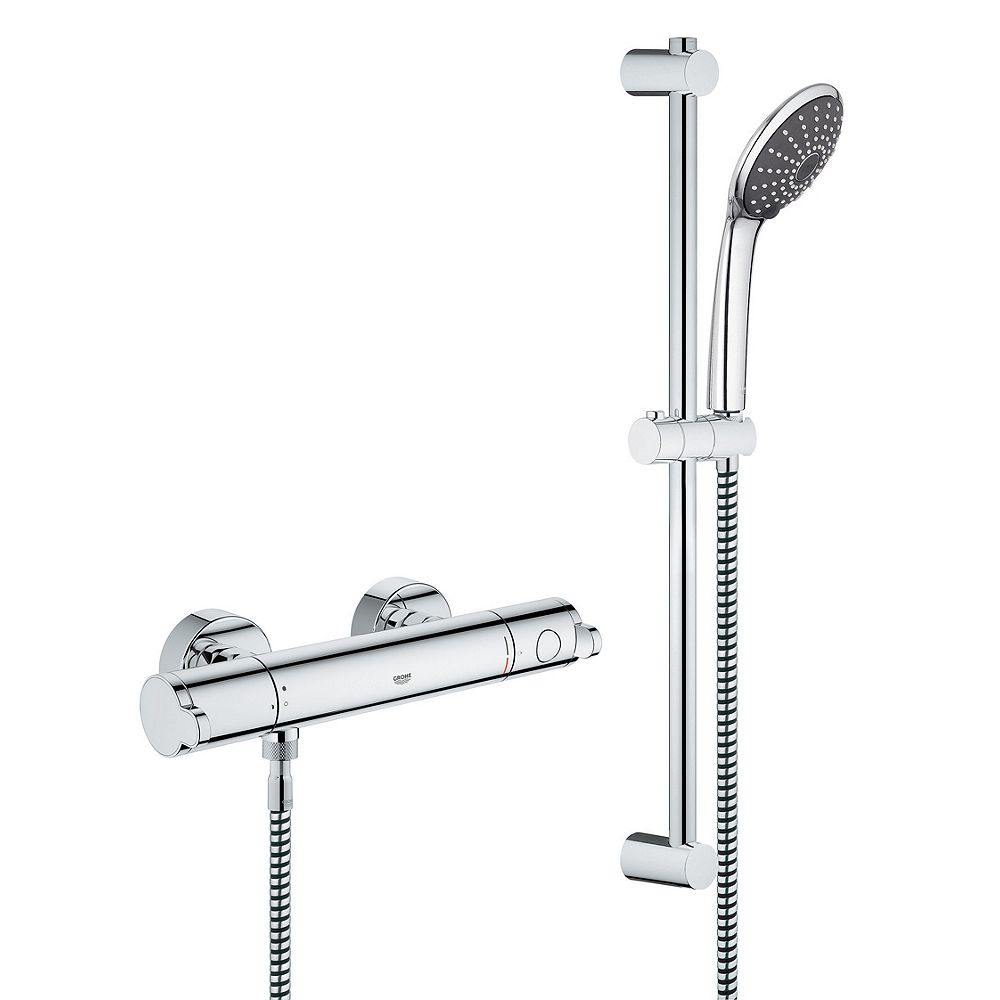 Grohe Wave Cosmo Thermo Mixer Shower Chrome