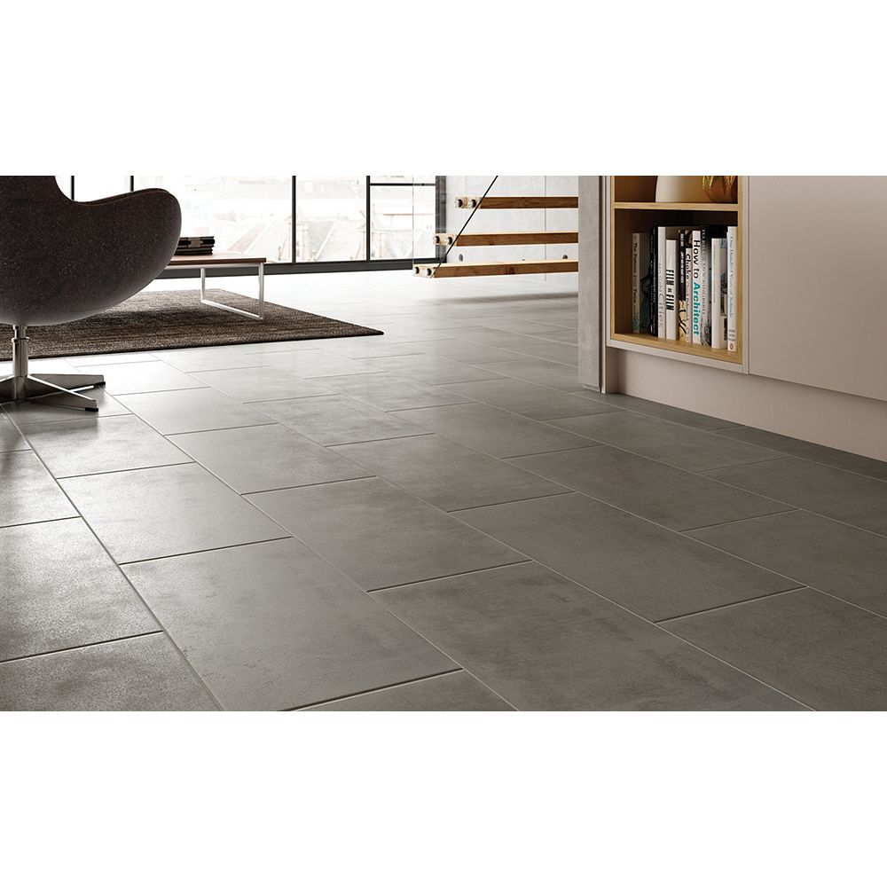 Wickes manhattan grey porcelain tile 600 x 300mm dailygadgetfo Image collections
