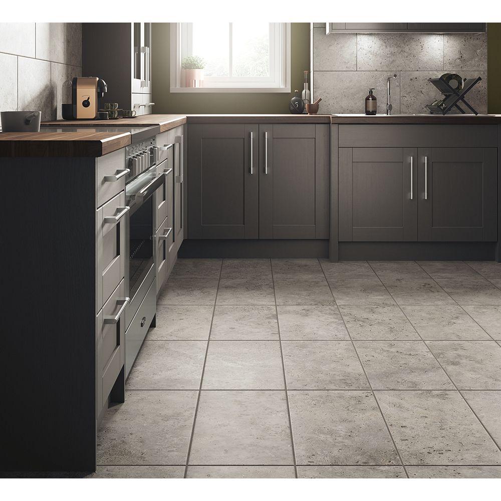 Wickes Shale Travertine Grey Ceramic Tile 9 x 9mm