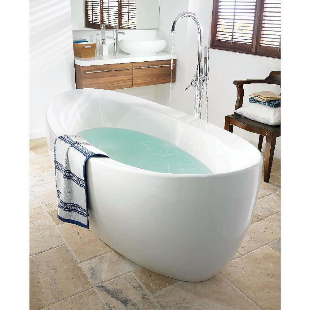 Wickes Cocoon Freestanding Bath White 1750mm