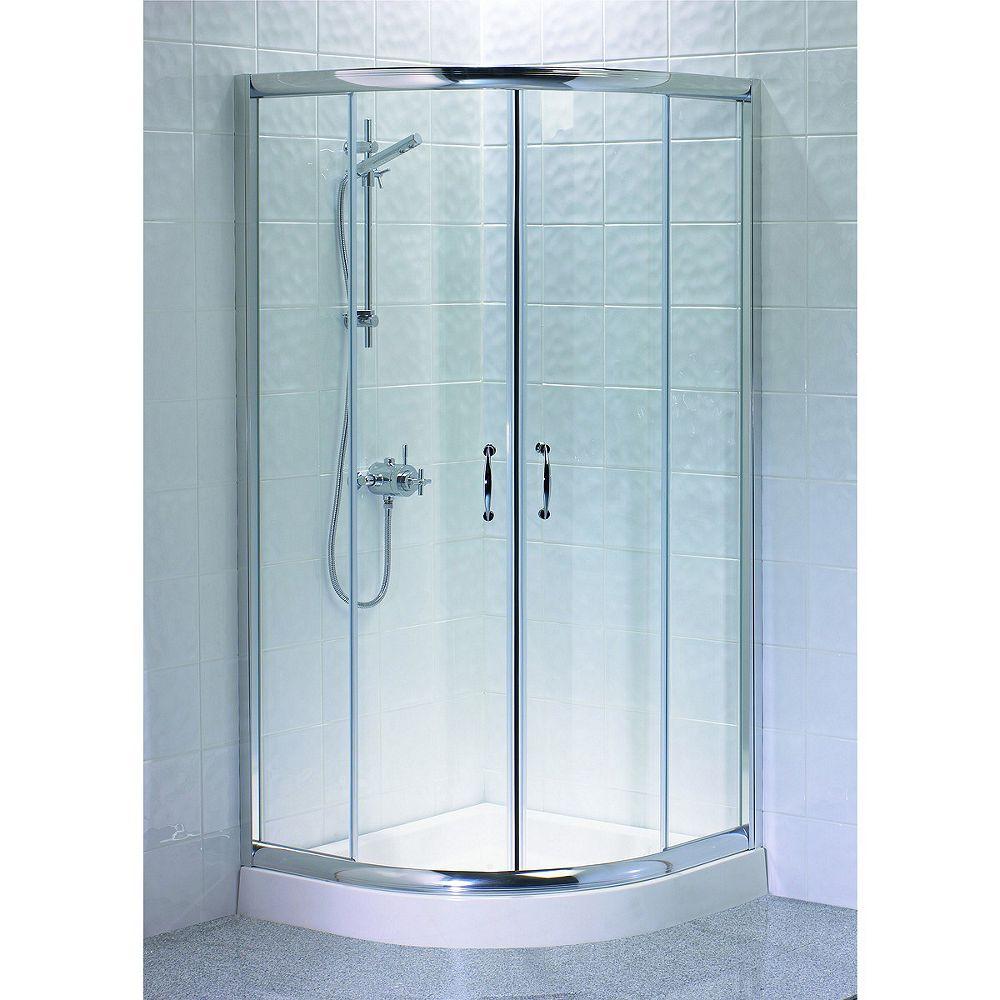 Wickes Quadrant Shower Enclosure Silver Effect Frame Box 2 of 2 900mm