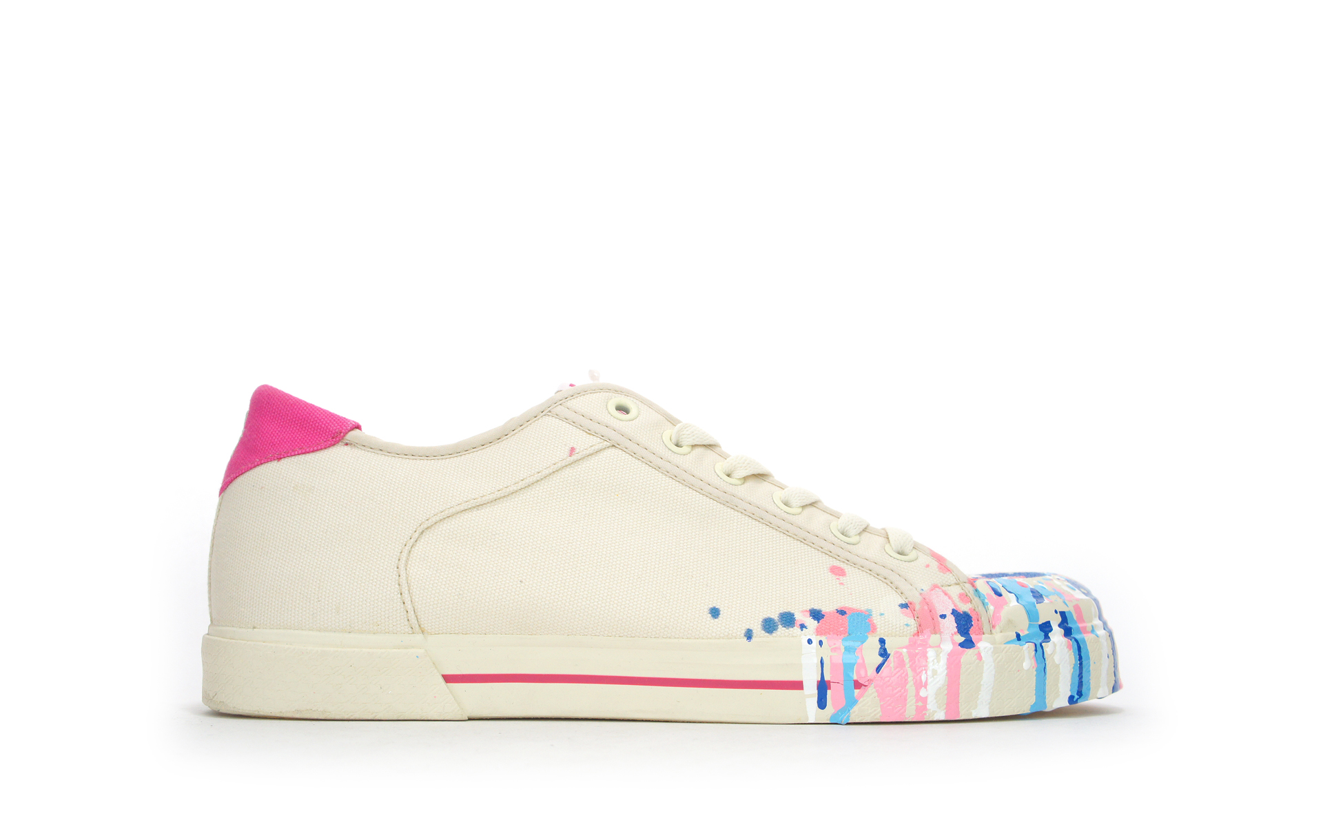 DC Chaussures ANDRE ARTIST SERIES ARKITIP Blanc Rose Multi-Men 's US10