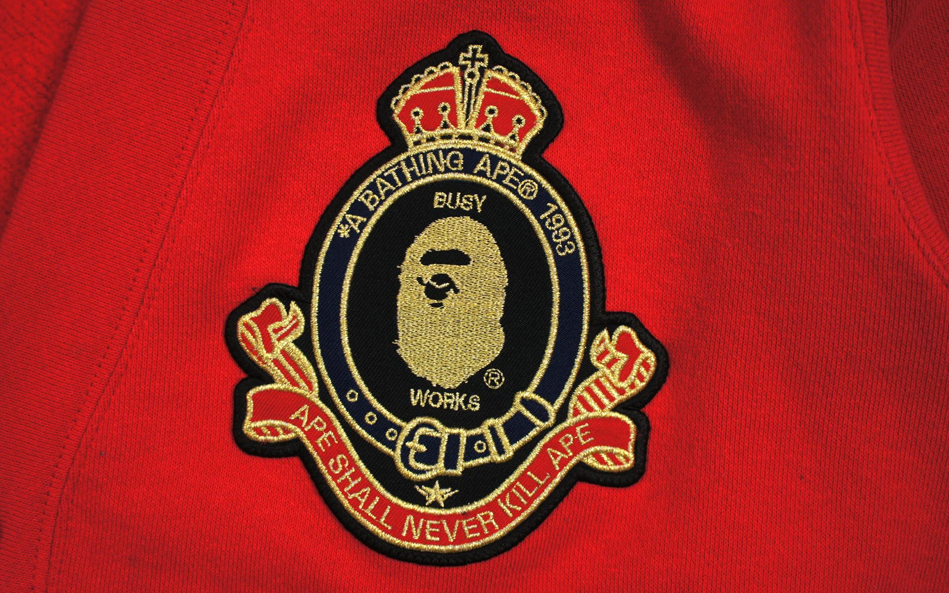 A Bathing Ape - Apehead Crest Sweat Cardigan rosso - Ape Uomo M e6199f
