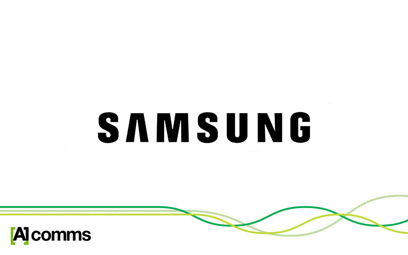 Samsung and A1 Comms co-branded logo