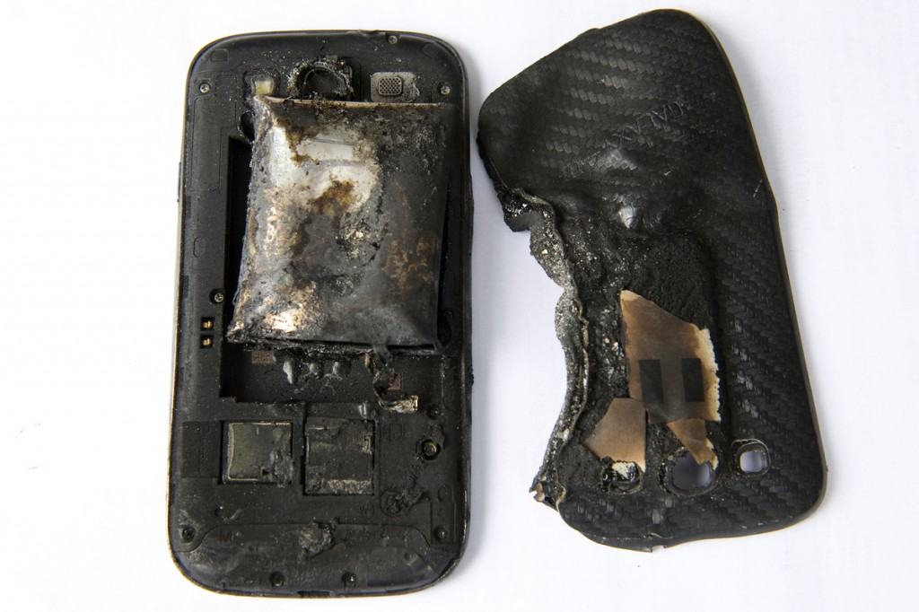 The result of charging your smartphone in the microwave