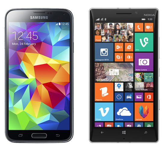 Samsung Galaxy S5 vs Nokia Lumia 930