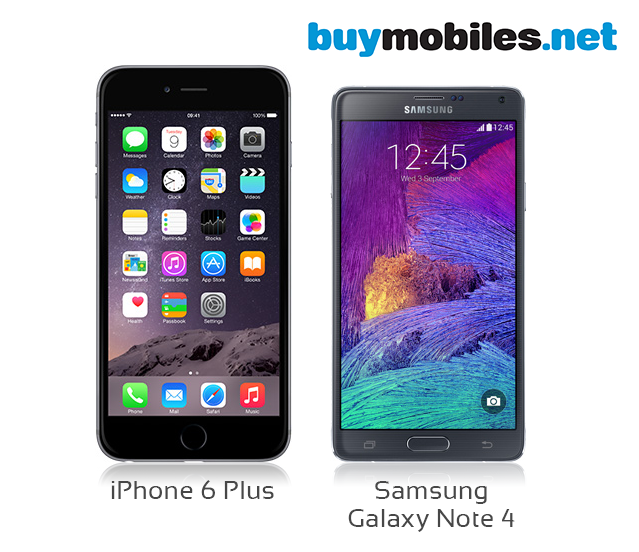 iPhone 6 & Samsung Galaxy Note 4 compare