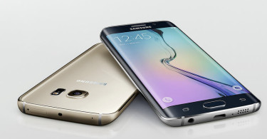 Samsung Galaxy S6 edges in black and silver