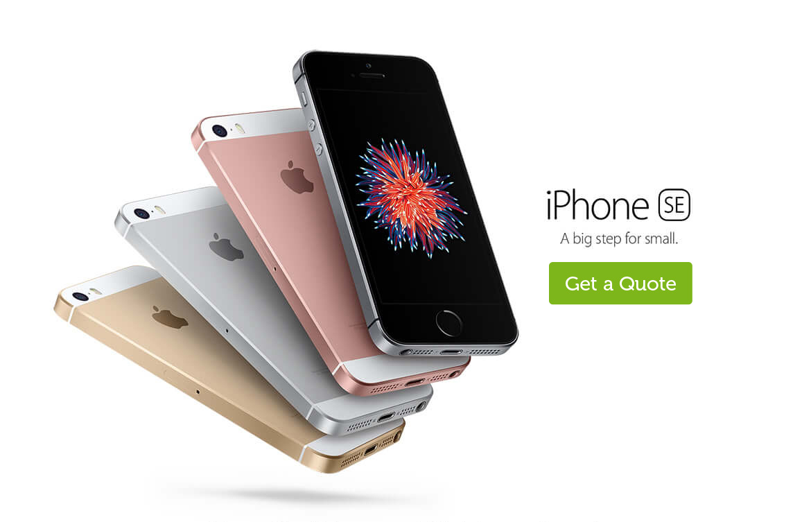 Get a quote for the iPhone SE