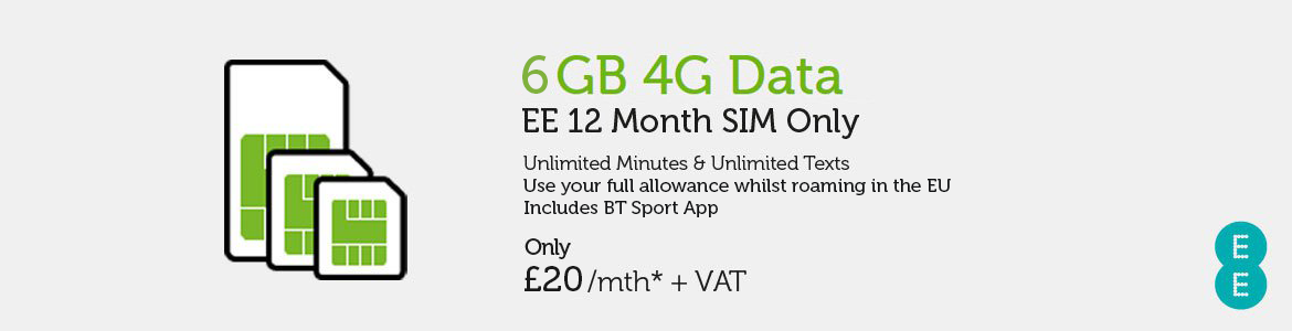 SIM Only EE £20