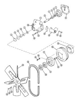 1 Band D/&D PowerDrive A61048 CASE Replacement Belt Rubber
