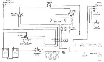 WIRING DIAGRAM--24 Volt System Serial No. 10K1 to 10K2404 inclusive D6C  TRACK-TYPE TRACTOR | AVSpare.comAVSpare.com