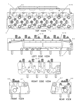 Cylinder Head CAT Made to fit M-1334995 Gasket