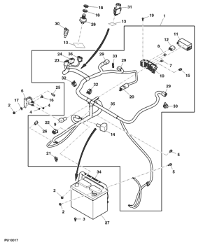 john deere eztrak z445 wiring harness am145399 john deere wiring harness avs parts  am145399 john deere wiring harness