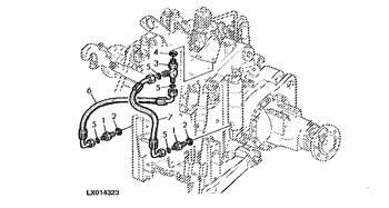 John Deere Original Equipment Oil Line #LVA12834