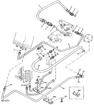 John Deere Original Equipment Oil Line #AM101988