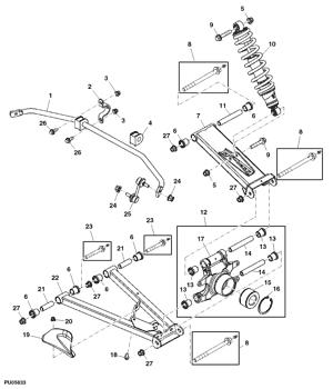John Deere Original Equipment Bar #M165168
