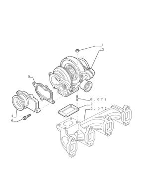 Loader Backhoe Tier 2 Turbocharger 2852068 for Case P70 P85 580SM 590SM 580SM