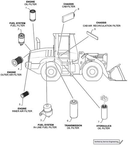 621d Case Wheel Loader Na S N Jee0135501 After 1 02 12 07 05 100 03 01 Filters 621d Case Constructuion