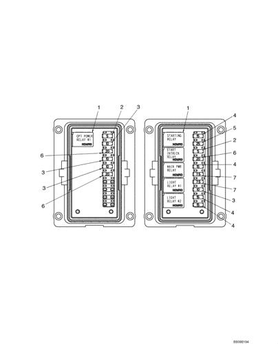 440ct) - compact track loader - series 3, asn n7m483467 (1/08-3/11)  (04-05c) - fuse box case constructuion  avspare.com