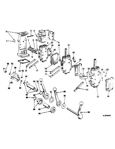 300) - farmall tractor (1/54-12/56) (263) - hydraulic system, hydra-touch  system, control valves and controls case agriculture  avspare.com