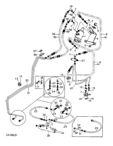 [TBQL_4184]  3288) - INTERNATIONAL DIESEL TRACTOR (1/81-12/86) (10-14) - HYDRAULICS,  HYDRAULIC POWER STEERING CONNECTION, 3088 AND 3288 TRACTORS Case Agriculture | Ih 3288 Wiring Diagram |  | AVSpare.com