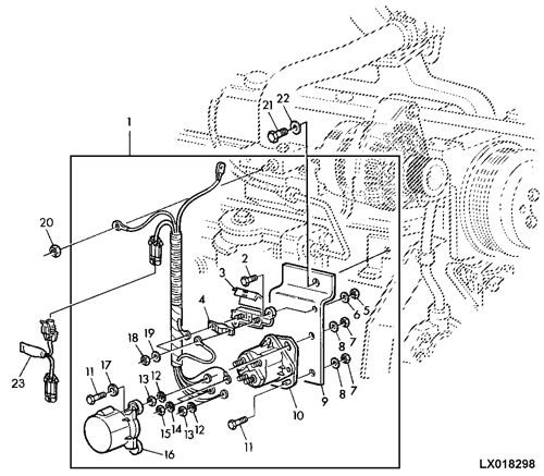 [TBQL_4184]  6110 - TRACTOR WIRING HARNESS, ENGINE STARTING AID EPC John Deere AL116178  AG online :: AVS.Parts | John Deere Tractor Engine Diagrams |  | AVS.Parts