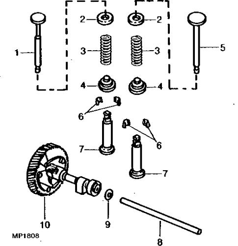 Details about  /John Deere garden tractor 210 212 214 216 kohler engine valves and springs