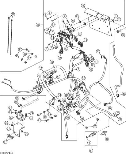 317 - LOADER, SKID-STEER ENGINE/CHASSIS WIRING HARNESS EPC John Deere onlineAVSpare.com