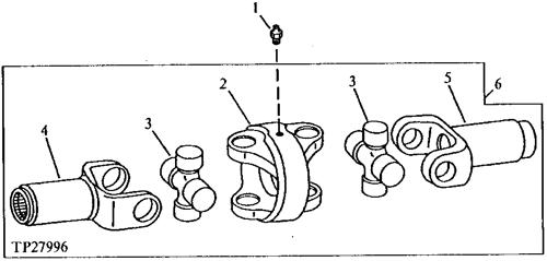 W. UNIVERSAL JOINT PART# 333//G3318 JCB PARTS FRONT AXLE SHAFT REPAIR KIT