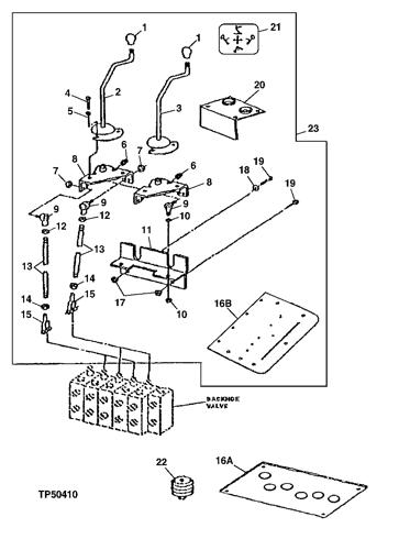 300d Backhoe Loader Two Lever Backhoe Controls Kit For Standard Dipperstick 802199 Epc John Deere Online